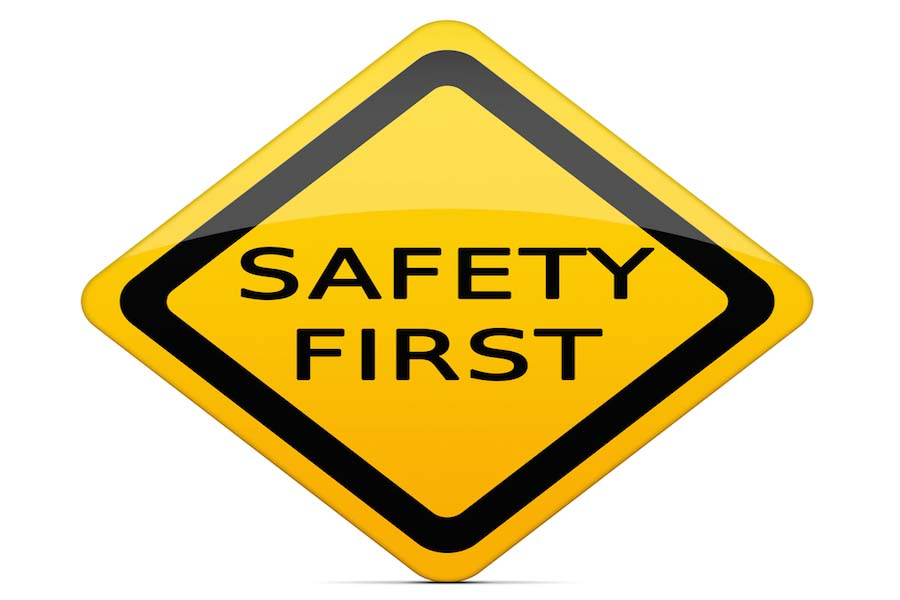SAFETY FIRST sign with clipping path
